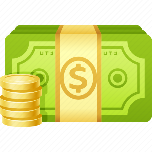 banknote, bills, cash, coins, dollar, money icon