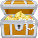 chest, coins, pirate, treasure, treasure chest, wealth icon