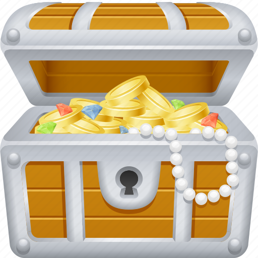 Chest, coins, pirate, treasure, treasure chest, wealth icon - Download on Iconfinder