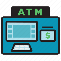 atm, bank, card, cash, credit, money icon