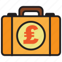 briefcase, pound, bag, business, money, suitcase