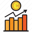chart, euro, finance, graph, profit, report, statistics icon