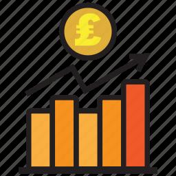 atm, bank, chart, credit, debit, money, pound icon