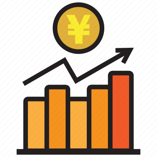 chart, graph, profit, report, statistics, yen icon