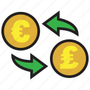 conversion, currency, euro, exchange, finance, money, pound icon