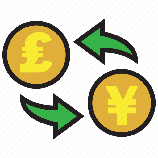 conversion, currency, exchange, finance, money, pound, yen icon