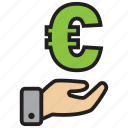 atm, bank, credit, debit, euro, money icon