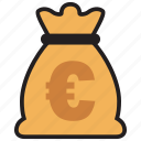 cash, currency, euro, finance, money icon