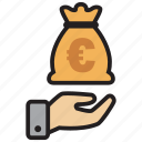 atm, bank, cash, credit, debit, euro, money icon