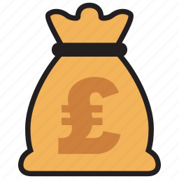 bag, currency, finance, money, pound, sterling icon