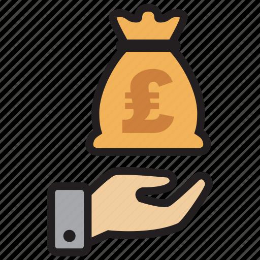 atm, bag, bank, credit, debit, money, pound icon