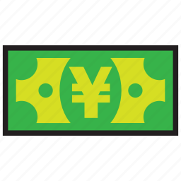 credit, currency, debit, finance, money, yen icon