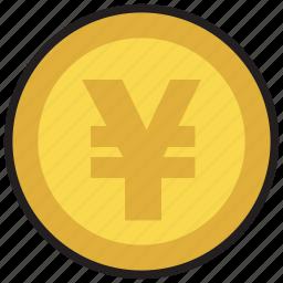 cash, coin, currency, finance, money, yen icon