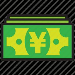 cash, currency, finance, money, yen icon
