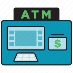 atm, bank, card, cash, credit, money icon