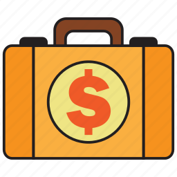 bank, briefcase, buy, credit, dollar, money, sell icon