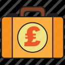 briefcase, pound, bag, business, money, suitcase