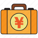 atm, bank, briefcase, credit, debit, money, yen icon
