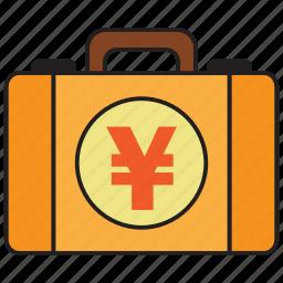 atm, bank, briefcase, credit, debit, money, yen icon