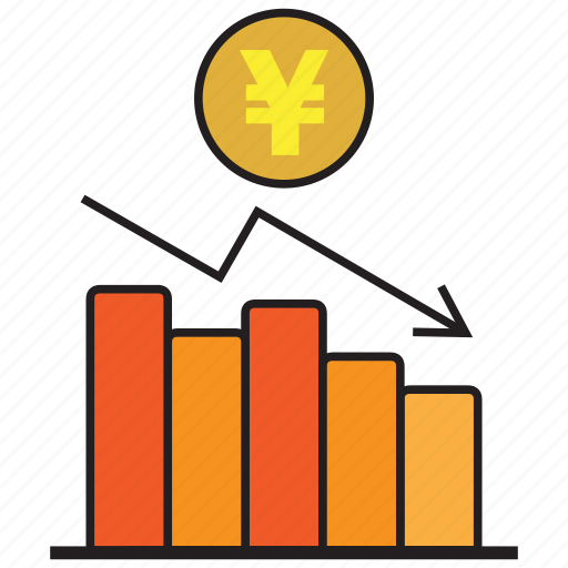 analytics, business, chart, graph, statistics, yen icon
