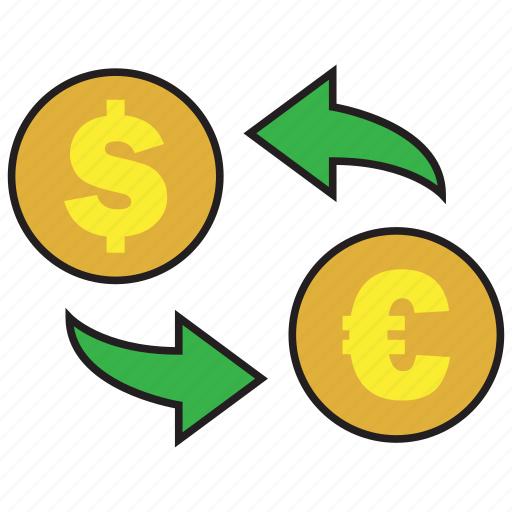 cash, conversion, currency, dollar, euro, exchange, rate icon