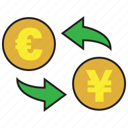 cash, currency, euro, exchange, finance, rate, yen icon