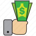 currency, dollar, finance, money, purchase, sell icon