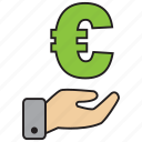 atm, bank, credit, debit, euro, money, purchase icon