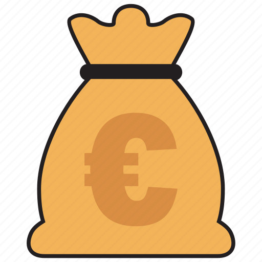 bag, cash, currency, euro, finance, money icon