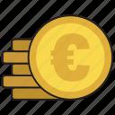 buy, cash, coin, euro, purchase icon