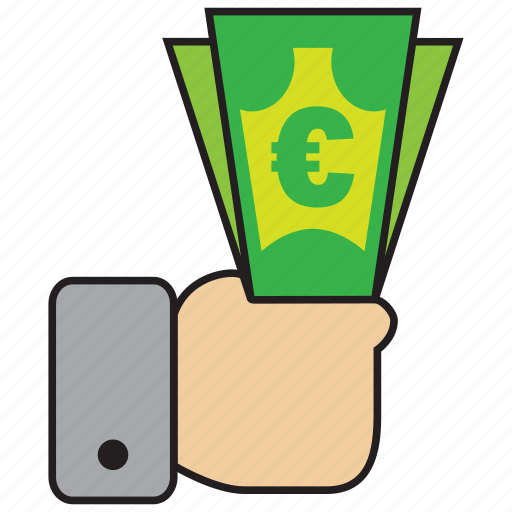 buy, cash, currency, euro, finance, purchase icon