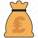 pound, bag, currency, finance, money, sterling