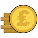 bank, banking, coion, finance, pound, sterling icon