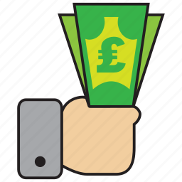 atm, bank, credit, debit, money, pound, sell icon