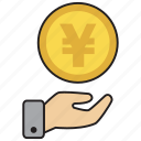 atm, bank, coin, credit, debit, money, yen icon