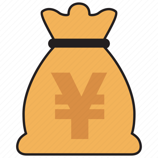 bag, cash, currency, finance, money, yen icon