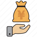 atm, bank, credit, debit, money, yen icon