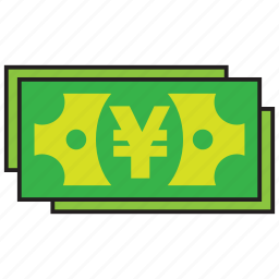 bank, buy, credit, debit, money, sell, yen icon