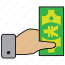 bank, credit, debit, money, sale, sell, yen icon