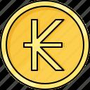 coin, currency, kip, laos kip, money