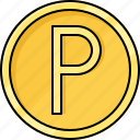 coin, currency, money, penny icon