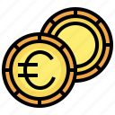 euro, currency, cash, coin, money