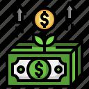 growth, money, investment, plant, cash