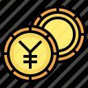 yen, currency, cash, coin, money