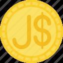 coin, currency, dollar, jamaica dollar, money