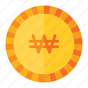 currency, coin, money, finance, korea, won