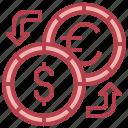 exchange, currency, money, dollar, euro