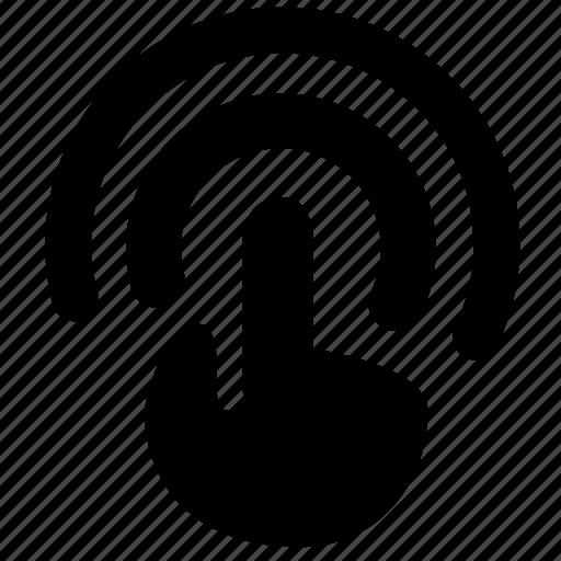 click, cursor, hand, press, touch icon