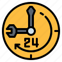 help, hours, info, information, support icon