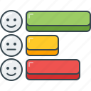 bar, chart, data, graph, horizontal, smiley, stats icon